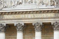 Paris, nationale de Assemblee, o parlamento francês Fotografia de Stock