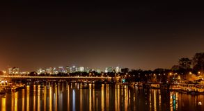 Paris natt arkivbild