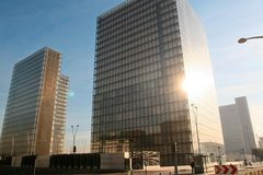 Paris-neue Bibliothek Lizenzfreie Stockfotos