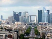 Paris, the new district of La Defense. Concrete and glass Stock Images