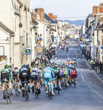 Paris Nice 2013 Cycling: Stage 1 in Nemours, France. Nemours, France. 4th March 2013. Image of the peloton riding during the first stage of the famous road Stock Images