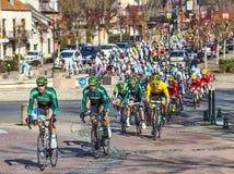Paris Nice Cylcing Rrace- etapp 2013 1 i Nemours Arkivbild