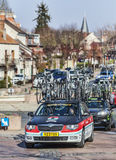 Paris Nice 2013 faisant un cycle : Étape 1 dans Nemours, France Photo stock
