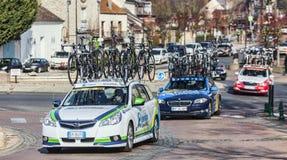 Paris Nice 2013 som cyklar: Etapp 1 i Nemours, Frankrike Fotografering för Bildbyråer