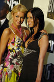 Paris and Nicki Hilton. On the red carpet Stock Photos