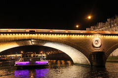 Paris by night Stock Images