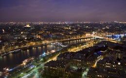 Paris night. A night scene of Paris Royalty Free Stock Photography