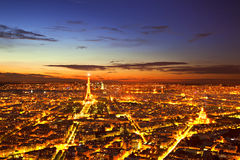 Paris by Night Stock Image