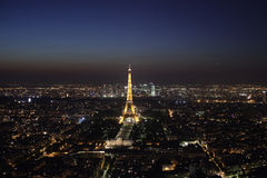 Paris by night Stock Photography
