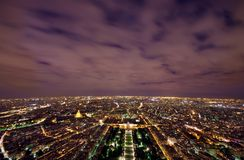 Paris at night. Paris night scene view from Eiffel Tower, France Royalty Free Stock Photo