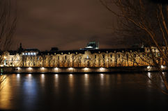 Paris by night. Building of institut de France in Paris, France at night Stock Photos