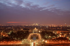 Paris by night. View from eiffel tower Stock Photos