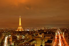 Paris at Night Royalty Free Stock Photo