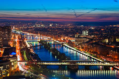 Paris at night. Royalty Free Stock Photos