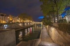 Paris at Night Stock Images