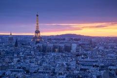 Paris at Night. A beautiful Aerial view of Paris at Night, France Stock Photo