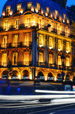 Paris by night on Boulevard Saint-Michel near Latin Quarter Stock Image