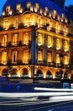 Paris by night on Boulevard Saint-Michel near Latin Quarter. Paris by night on famous Boulevard Saint-Michel near Latin Quarter stock image