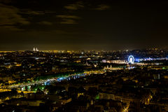 Paris at Night  3. Paris city view from Eiffel tower at night Royalty Free Stock Image