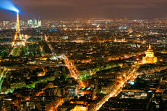 Paris at night with the Eiffel tower. Stock Photo