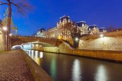 Paris at night, France Stock Photography