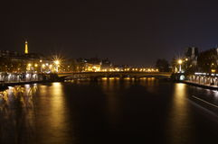 Paris night, France Royalty Free Stock Images