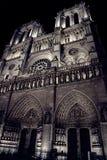 Paris by night, Notre dame, november 2017 stock photo