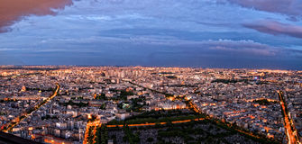 Paris by Night. Panorama of Paris by Night Stock Photos