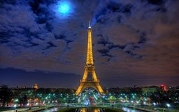 Paris@night. Picture from Eiffeltower Royalty Free Stock Photography