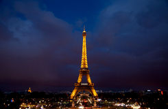 Paris night scene stock image