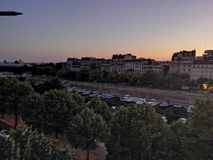 Paris by night sunset bastille street photography royalty free stock images