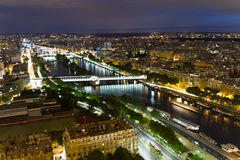 Paris at night. View of Paris at night Stock Photo