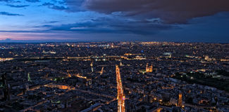 Paris by night Royalty Free Stock Photos