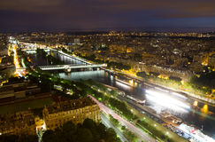 Paris at night. View of Paris from the Eiffel tower at night Stock Photography