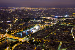 Paris at night. View of Paris from the Eiffel tower at night Stock Images