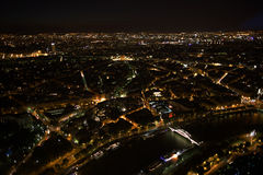 Paris. Night view from the Eiffel tower Royalty Free Stock Photo