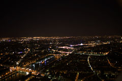Paris. Night view from the Eiffel tower Stock Image