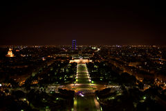 Paris. Night view from the Eiffel tower Stock Images