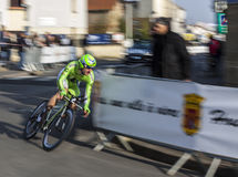 Paris-Nizza Radfahren-Rennen-Aktion Lizenzfreies Stockbild