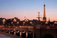 Paris no crepúsculo Imagem de Stock