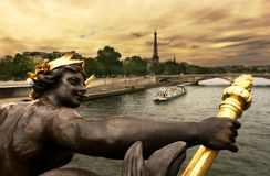 Paris. No Seine #2. Foto de Stock Royalty Free