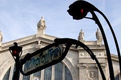 Paris-Nordstation zurückgestellt worden Stockfoto
