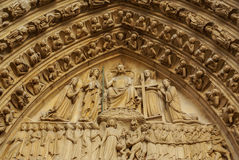 PARIS -Norte Dame Cathedral is on of Paris's most visited touris Royalty Free Stock Photography