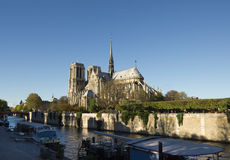 Paris, Notre Dame as seen from Seine, France Royalty Free Stock Image