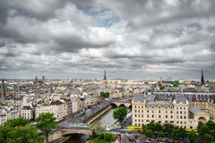 Paris from Notre Dame Cathedral church Royalty Free Stock Photos