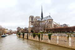 Paris. Notre Dame Cathedral. Royalty Free Stock Image