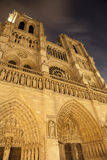 Paris - Notre Dame cathedral at night Royalty Free Stock Images