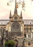 Paris. Notre Dame cathedral. Vintage effect. Paris, France historical Notre Dame cathedral royalty free stock images