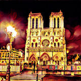 Paris. Notre Dame de Paris cathedral in France Royalty Free Stock Photography