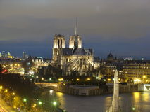 Paris. Notre Dame de Paris in Christmas Royalty Free Stock Photo